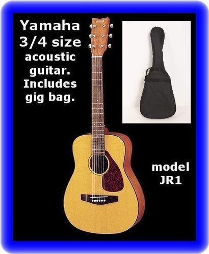 Yamaha JR1 3/4 Scale Mini Folk Guitar with gig bag case