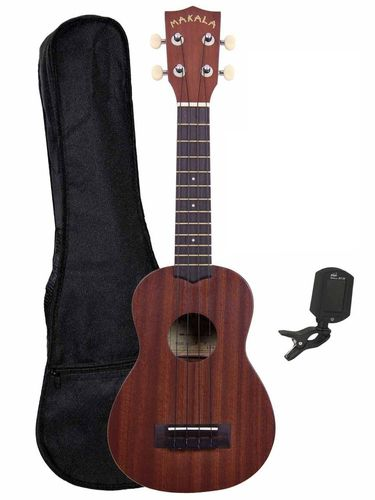 Makala Soprano Uke starter pack - includes case and accessories!