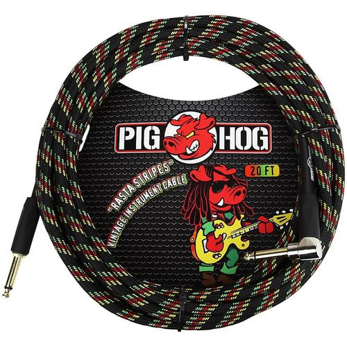 Pig Hog Right Angle Instrument Cable 20 ft.