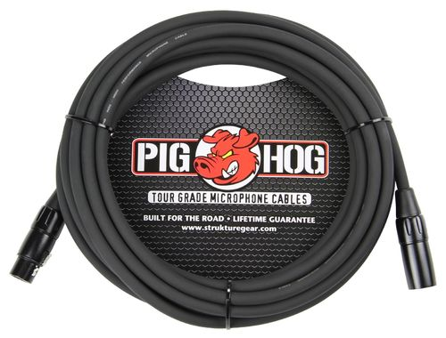 Pig Hog 8mm Mic Cable, 30ft XLR