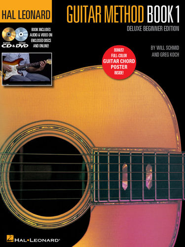 Hal Leonard Guitar Method Book 1 - Deluxe Beginner Edition